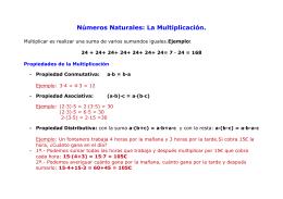 cuadro comparativos propiedades de la adición y la multiplicación