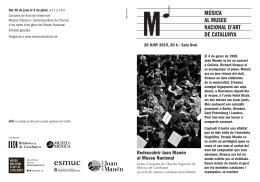 Redescobrir Joan Manén al Museu Nacional