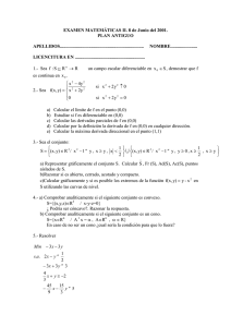 Examen Junio 01, plan antiguo