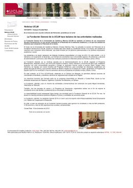 La Fundación General de la UCLM hace balance de las actividades realizadas en el transcurso de la reunión ordinaria del Patronado, presidida por el rector.