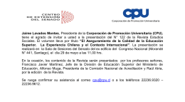 INVITACIÓN CPU
