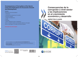 Consecuencias de la Consequences of corrupción a nivel sector Corruption at the sector