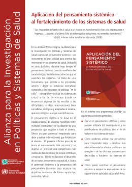 Overview in Spanish pdf, 438kb