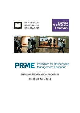SHARING INFORMATION PROGRESS PEROIOD 2011-2013