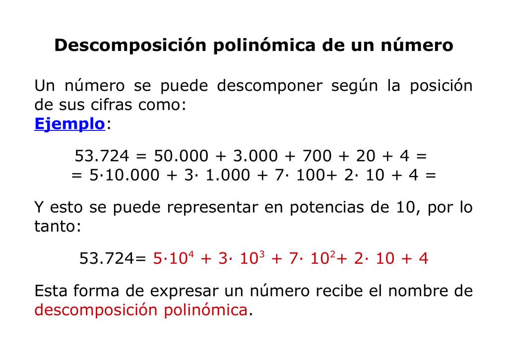 Resultado de imagen de descomposicion polinomica