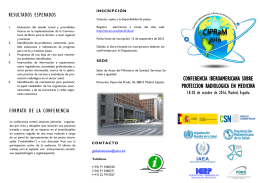 Flyer about the conference - in Spanish pdf, 471kb