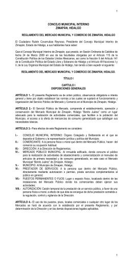 CONCEJO MUNICIPAL INTERINO ZIMAPÁN, HIDALGO