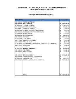 COMISION DE AGUA POTABLE, ALCANTARILLADO Y SANEAMIENTO DEL