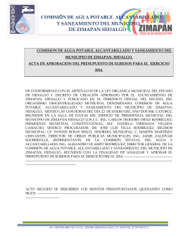 COMISIÓN DE AGUA POTABLE  ALCANTARILLADO Y SANEAMIENTO DEL MUNICIPIO