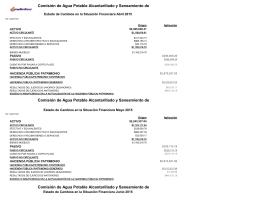 Comisión de Agua Potable Alcantarillado y Saneamiento de ACTIVO Origen