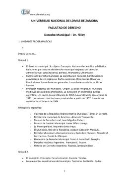 Derecho Municipal - Dr. Filloy