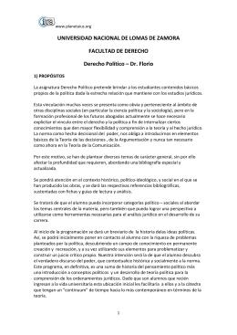 Derecho Politico - Dr. Florio