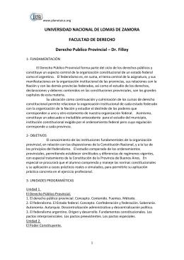 Derecho Publico Provincial - Dr. Filloy