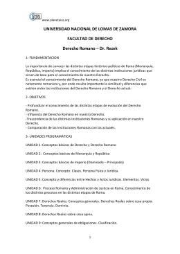 Derecho Romano - Dr. Rezek