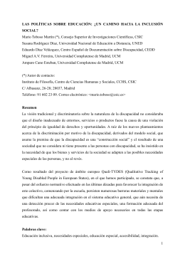 Mario Toboso Martín (*), Consejo Superior de Investigaciones Científicas, CSIC SOCIAL?