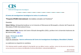 """Proyecto IPUMS International:"