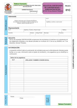 01C SOLICITUD CERTIFICADO Modelo DE CONTRATISTAS Y