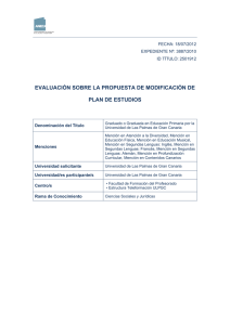 INFORME FAVORABLE MODIFICA GRADO EDUCACI N PRIMARIA JULIO 2012