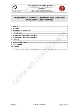 PCC05. DESARROLLO DE LA ENSE ANZA Y EVALUACI N DE LOS ESTUDIANTES.