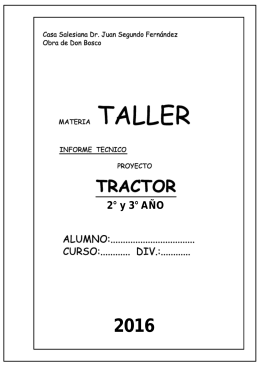 PROYECTO TRACTOR 2016