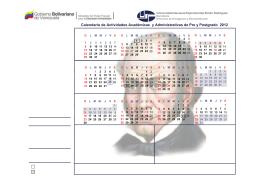 calendario academico administrativo 2012