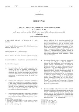 Directiva 2011/7/UE
