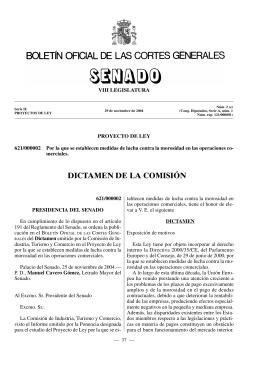 Dictamen Comision Senado 24.11.2004