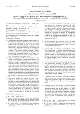 Posición Común (CE) Nº 58/2003