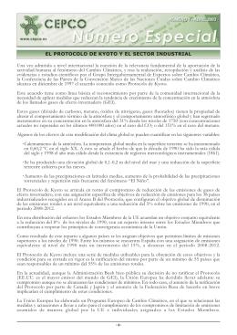 El Protocolo de Kyoto y el Sector Industrial (Abril de 2003)