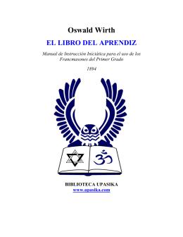 El Libro del Aprendiz - Oswald Wirth