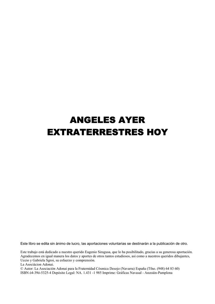 Angeles ayer Extraterrestres hoy