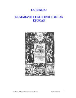 La Biblia el Maravilloso Libro de las Épocas