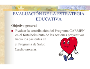 CARMEN School (presentation in Spanish) pdf, 640kb