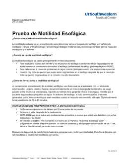 Esophageal Motility Test (Spanish)