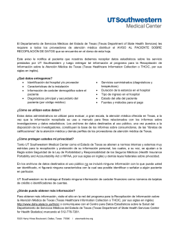 THCIC Patient Notice (Spanish)