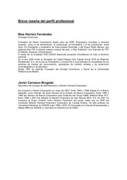 Breve reseña del perfil profesional Blas Herrero Fernández
