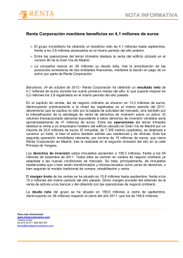 NOTA INFORMATIVA Renta Corporación mantiene beneficios en 4 dc0a8735a1f