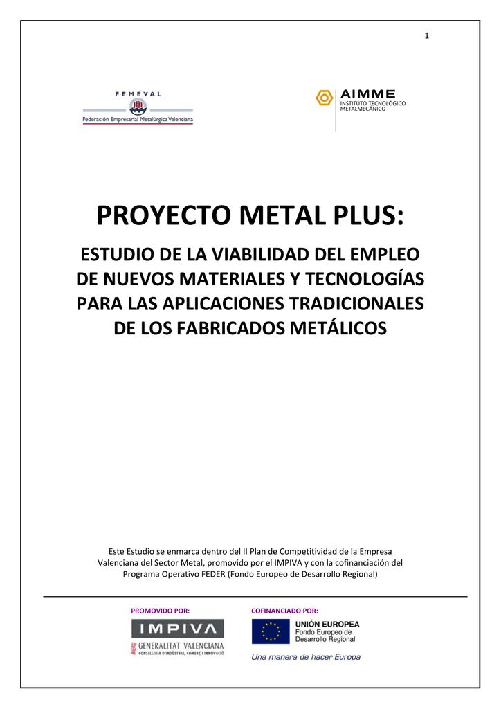 informe final aplicaciones alternativas a los metales metal iii