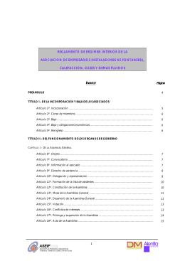 Réglamento de Régimen Interno.