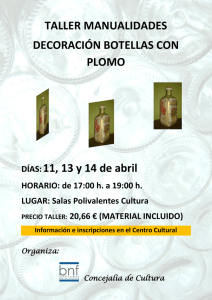 Taller decoración botellas con plomo