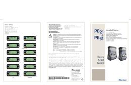 PB21 & PB31 Mobile Printer Quick Start Guide