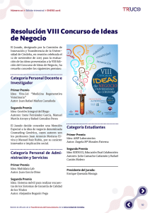 Resolución VIII Concurso de Ideas de Negocio