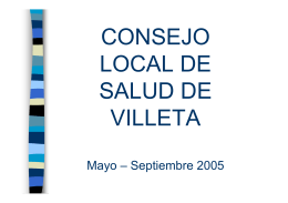 CONSEJO LOCAL DE SALUD DE VILLETA