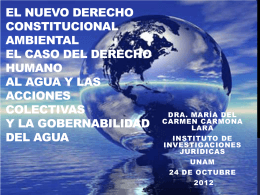 El nuevo derecho constitucional ambiental el caso del derecho humano al agua y las acciones colectivas y la gobernabilidad del agua (PDF, 2.6 MB)