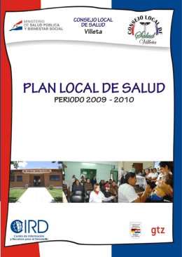 1 Plan Local de Salud de Villeta –  Periodo 2009-2010