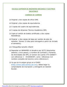 Requisitos cambio carrera
