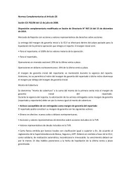 Disposiciones complementarias al Articulo 28