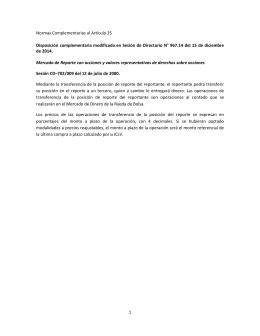 Disposiciones complementarias al Articulo 35