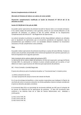 Disposiciones complementarias al Articulo 42