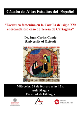 """Escritura femenina en la Castilla del siglo XV: (University of Oxford)"